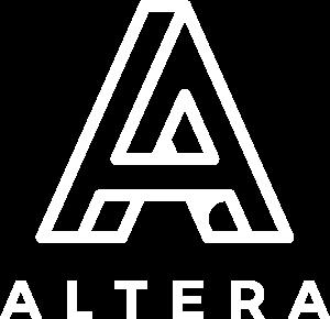 Logo Altera  - białe
