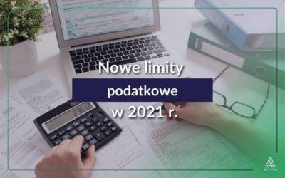 Nowe limity podatkowe w 2021 roku.