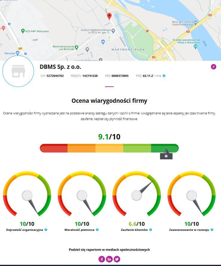 Ocena wiarygodności firmy DMSales
