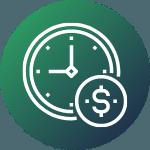 Oszczędność czasu i pieniędzy Ikona